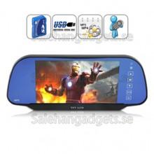 Bil Backspegel Monitor + MP3/MP4 Player
