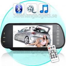 7 Inch Backspegel Monitor - Bluetooth + Touch-Knappen