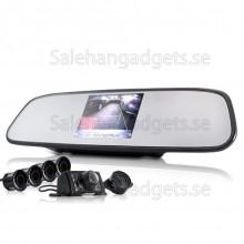 Komplett Car Vända Kit - Backkamera + Parking Sensor + Backspegel