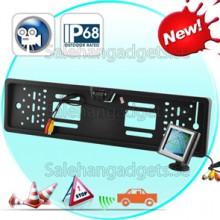 3,5 Tums Rearview Parkering Monitor + EU License Plate Bakåtriktad Kamera