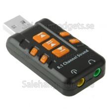 8.1 Channel USB Sound Adapter, Extern Ström Krävs Ej