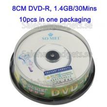8CM Blank Mini DVD-R, 1.4GB/30mins