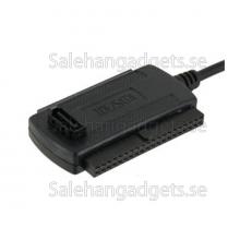 5 I 1 USB 2.0 Till SATA / IDE-Kabel Nätadapter Converter Kit (Svart)