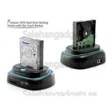 Premium 2,5 Och 3,5 SATA Hårddisk Dockningsstation Med One-Touch Backup