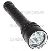 3X CREE XM - L T6 LED, 4000Lm, 30W, Vattentät 100m, Djupdykningficklampa