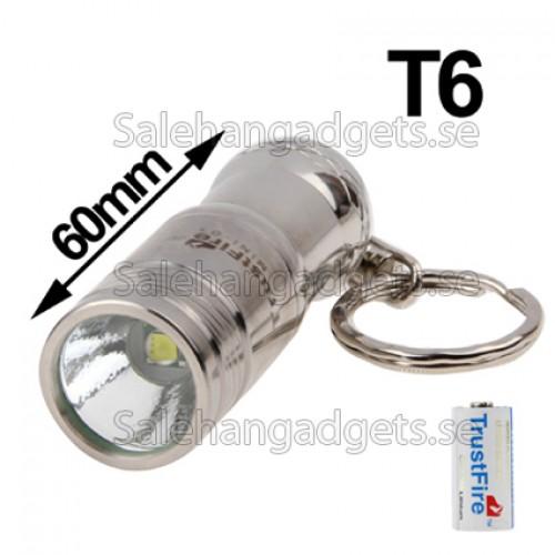 Rostfritt Stål CREE XM-L T6 3-Läges LED Ficklampa   Nyckelring b05e0cadb068b