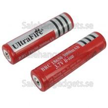 Uppladdningsbara Li-Ion Batterier 18.650, 3.7V, 3000mAh