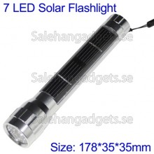 7 LED Solar Ficklampa