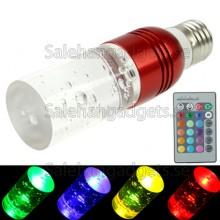 3W RGB Crystal Flash LED Lampa Med Fjärrkontroll, AC 110-220V
