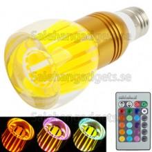 3W Crystal Glass Umbrella RGB LED Lampa Med Fjärrkontroll, AC 85-265V
