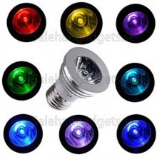 E27 LED RGB Färg Förändras Glödlampa Med Trådlös Fjärrkontroll