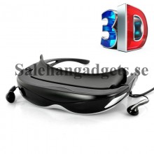 3D/2D 80 Tums Digital Video Glasögon, 4 GB Internminne, AV-In, Fjärrkontroll