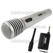 Trådlös Mikrofon Med Mottagare Och Antenn, Effektiv Avstånd: 15-30m