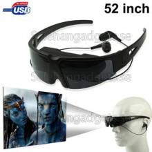 52 Tums Virtual Display 2D Video Glasögon, Support AV IN-Funktionen (2m Avstånd)