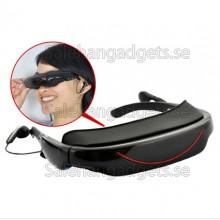 Bärbara Video Glasögon - 72 Tums Virtuell Skärm, 4GB, AV-Funktion