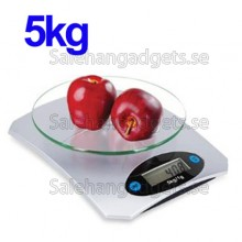 Digital LCD Elektronik Glas Köksvåg, 5kg