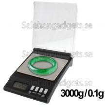Digital Elektronisk Våg I Fickformat, 3000g X 0,1 G