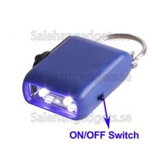 Mini LED-Nyckelring Ficklampa, Inga Batterier Krävs