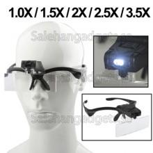 Multifunktionella Förstoring Glasögon, 2-LED-Lampor