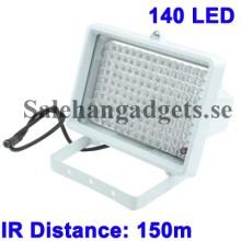 Osynlig IR Ljus För CCD-Kamera, 140 LED, IR Avstånd: 150m