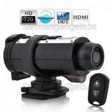 Vattentät 720p HD Sport Action Videokamera Med Fjärrkontroll