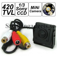 420 TVL 1/3 Sony CCD Spion Hålkamera Med Ljud