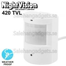 1/4 SHARP 420TVL 3.7mm Lins IR & Vattentät Färg CCD-Videokamera, IR Avstånd: 30m
