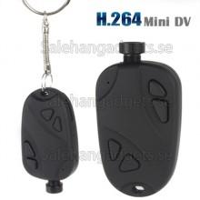 HD 720P H.264 Mini DVR Nyckelring Videobandspelare, DV -Kamera Med Billaddare