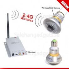2.4G Trådlös Spion Lampa Med Sändare Och Mottagare, 600TVL, 36 IR- Lysdioder
