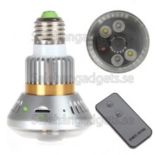 2st IR LED Bulb CCTV Home Security DVR Kamera Med Fjärrkontroll