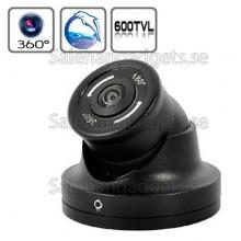 1/3 Sony CCD 180 Graders Vidvinkel Mini Dome Kamera, 650TVL