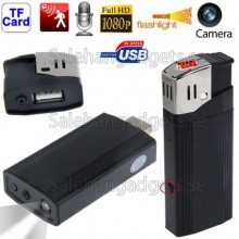 HD 1080p Dold Kamera / Mini Tändare DVR / Ficklampa