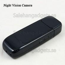 USB Flash Drive Spionkamera, DVR, Night Vision, 1280x960 HD