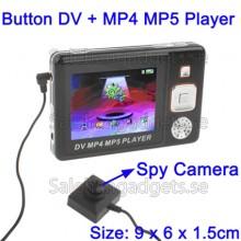 Knapp DV Video Recorder Spionkamera + MP4 MP5 Spelare, 2 GB