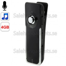 Digital Voice Recorder Med Clip, Telefon Inspelare, MP3 Funktion, 4GB Minne ( Svart )