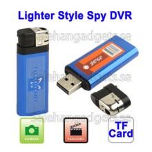 Tändare Style Spy DVR USB Mini DV Dold Videokamera, TF-Kortplats (Blå)