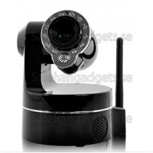 Trådlös IP Övervakningskamera, 3 X Optisk Zoom, PTZ-Styrning, Night Vision, Rörelsedetektor