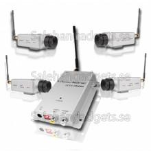 4X BNC Trådlös Audio & VideoKamera PAL + AV-Mottagare - 50 Meters Räckvidd