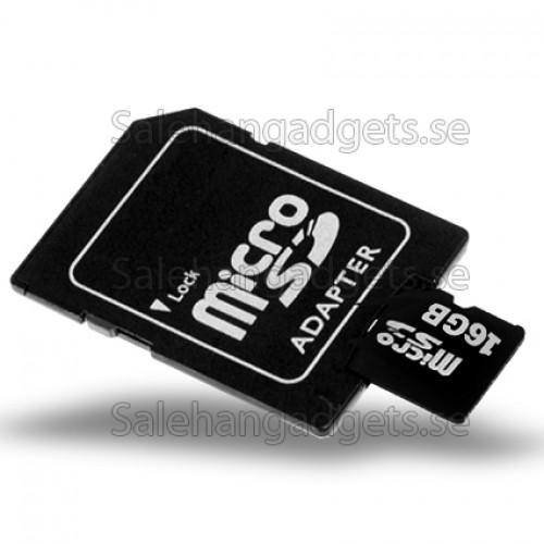 16gb Microsd Tf Kort Med Sd Kortplats Adapter