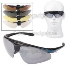 UV400-Skydd Solglasögon Med 4 St Utbytbar Linser