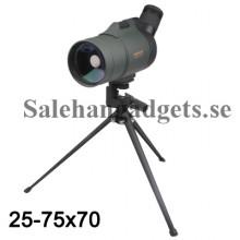 Professionell Monokulärt Teleskop 25-75 X 70 Med Stativ