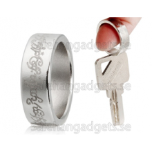 Silk Tryckt Magnetisk Ring Sz 8