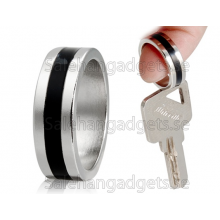 Snygg Magnetisk Ring, Svart & Silver