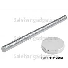 8x 2mm NdFeB Rund Magneter, 100 St