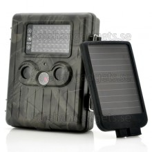 Jakt Kamera + Solpaneler - 1080p HD-Video, PIR Rörelsedetektor, MMS