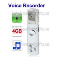 Digital Diktafon MP3-Spelare, Telefon Inspelning, VOX-Funktion, 4GB
