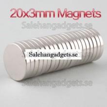 20x3mm Super Starka Magneter N35, (5st)